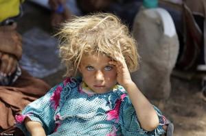 Дівчинка з сім'ї сирійський переселенців