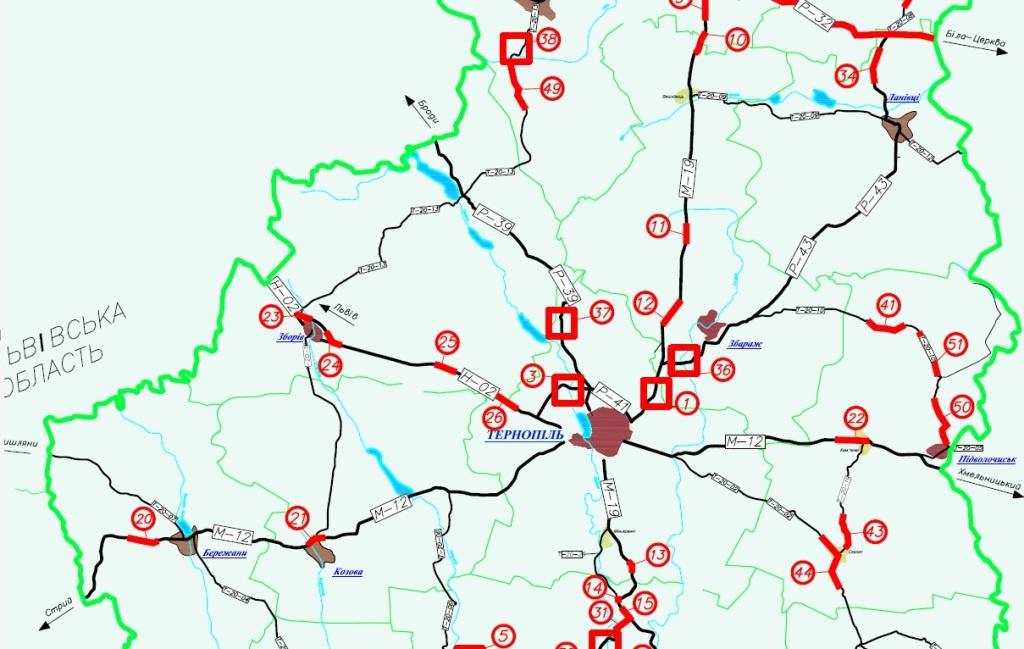 Які дороги і за скільки ремонтуватиме Тернопільоблавтодор?