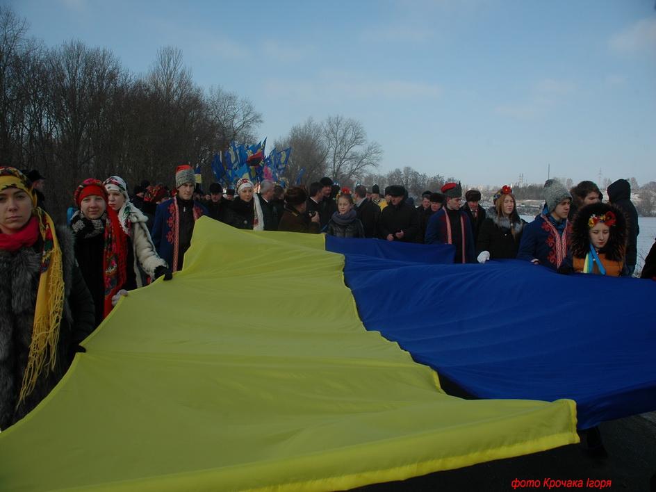 На кордоні Тернопільської та Хмельницької областей провели акцію «Збруч – ріка єднання!»