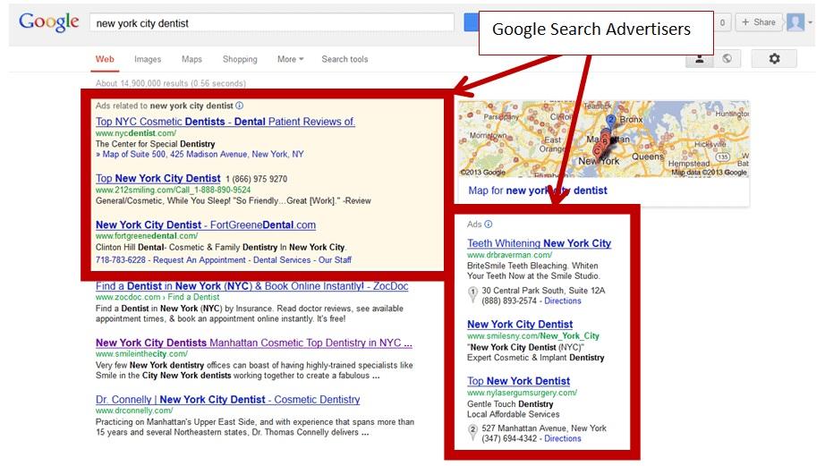 Google забрав рекламний блок від результатів пошукової видачі