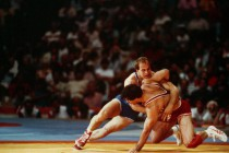 File_US_Army_2d_Lt_Ludwig_D._Banach_competes_in_freestyle_wrestling_during_the_1984_Summer_Olympics