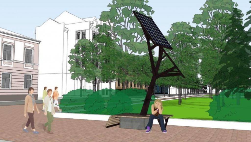 У Тернополі облаштують «сонячне дерево» для зарядки мобільних пристроїв