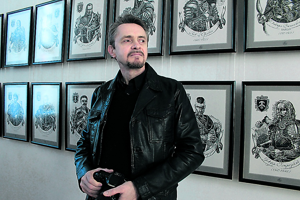 Українські князі у графіці Олега Кіналя