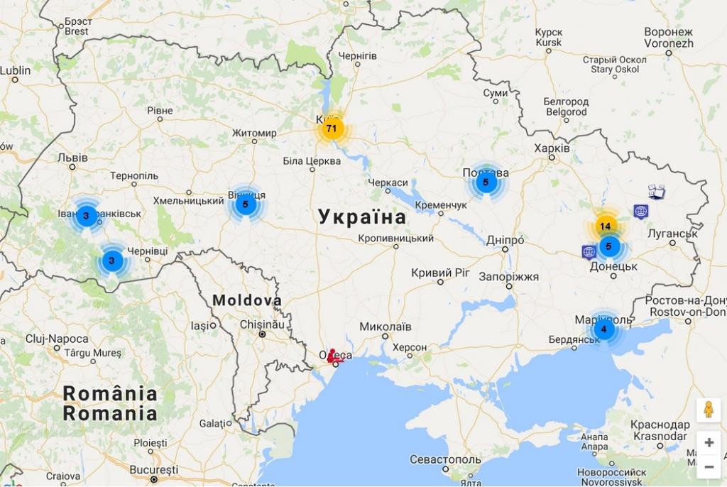Тернопіль – на онлайн-карті публічних просторів
