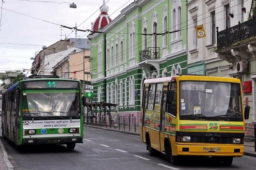 Громадський транспорт Тернополя у ніч із 31 грудня на 1 січня