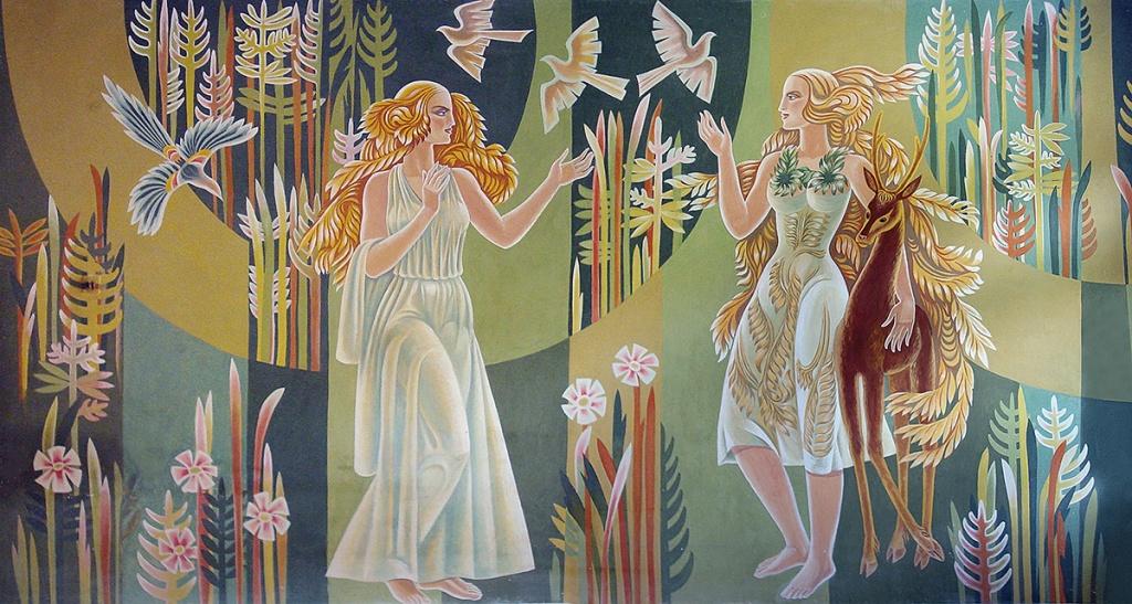 ЗНИЩЕНЕ Й ЗБЕРЕЖЕНЕ: мозаїки, чеканки, розписи Петра Шпорчука