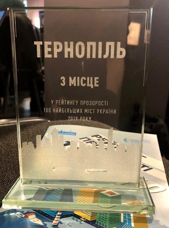 Тернопіль – у трійці лідерів найпрозоріших міст в Україні