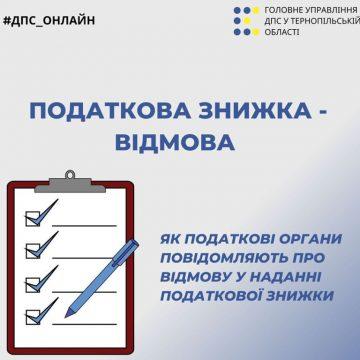Про відмову в наданні податкової знижки повідомлять