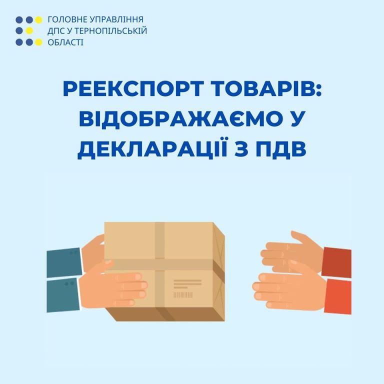 Реекспорт товарів відображається в декларації з ПДВ