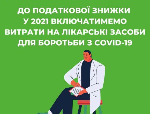 Витрати на лікарські засоби для боротьби з COVID-19 наступного року включать до податкової знижки