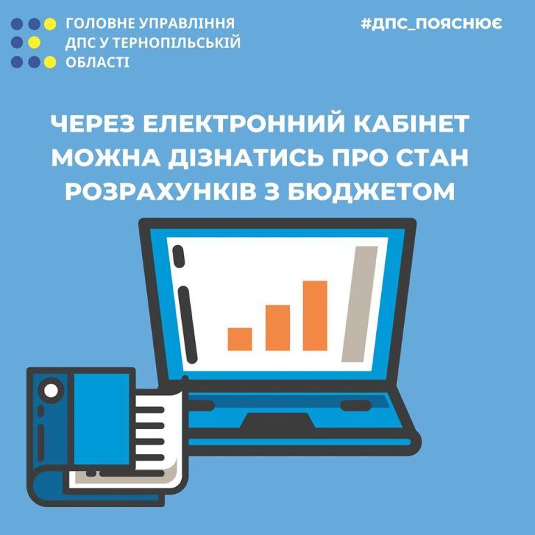 Про стан розрахунків із бюджетом — через електронний кабінет