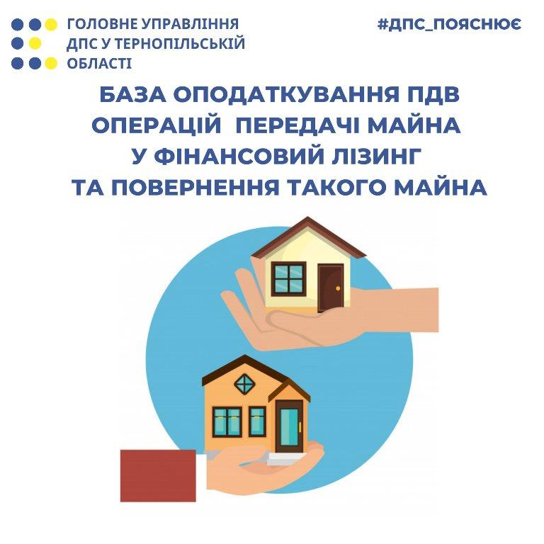 База оподаткування ПДВ операцій із передачі майна у фінансовий лізинг та повернення такого майна