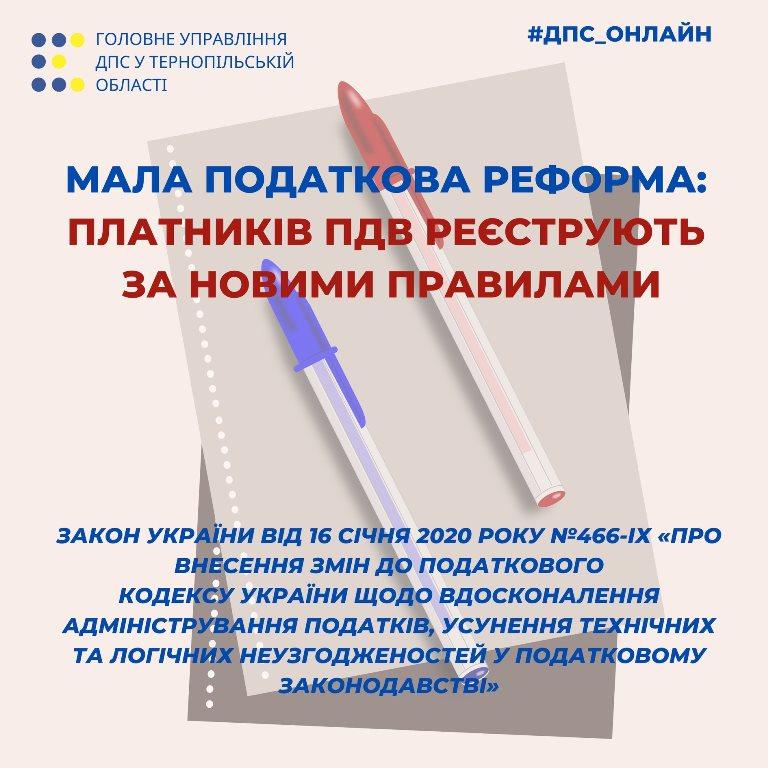 Реєстрація платників ПДВ за новими правилами