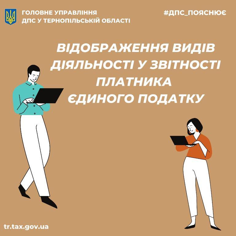 Відображення видів діяльності у звітності платника єдиного податку