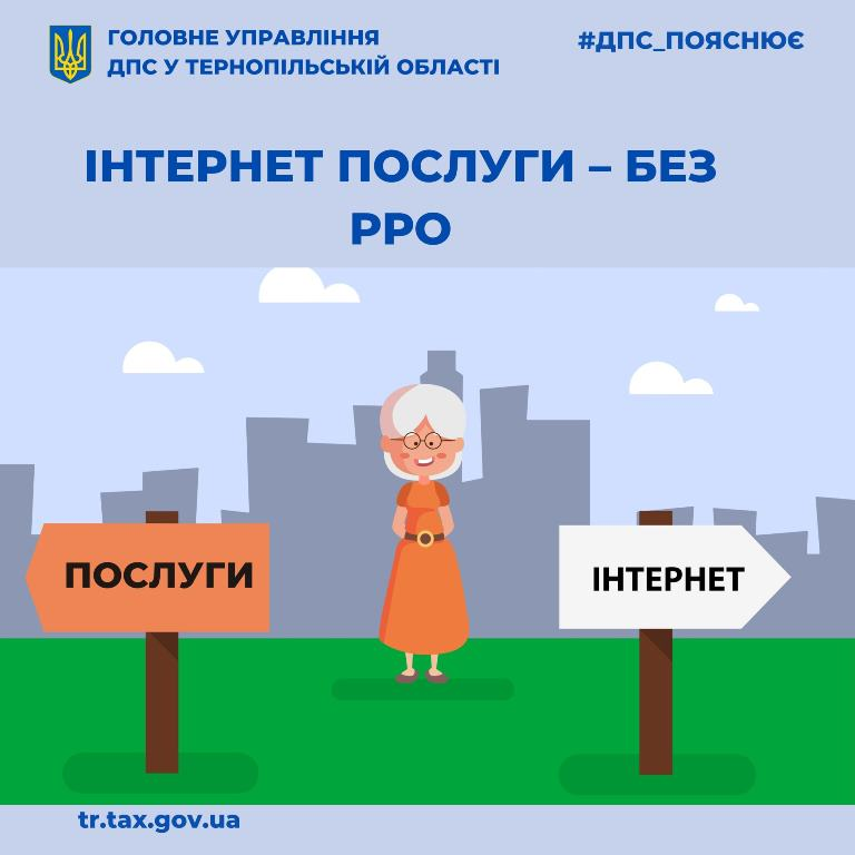 Інтернет послуги — без РРО