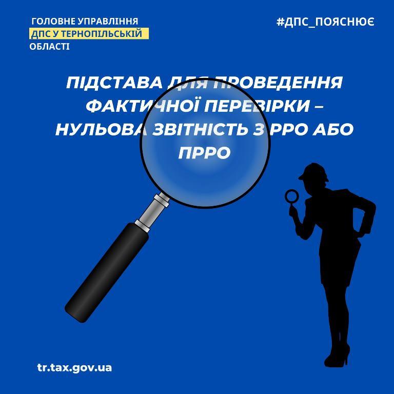 Нульова звітність із РРО чи ПРРО — підстави для проведення фактичної перевірки