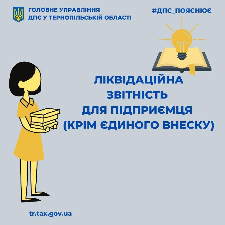 Ліквідаційна звітність для підприємців, окрім єдиного внеску