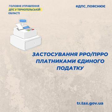 Застосування РРО/ПРРО платниками єдиного податку