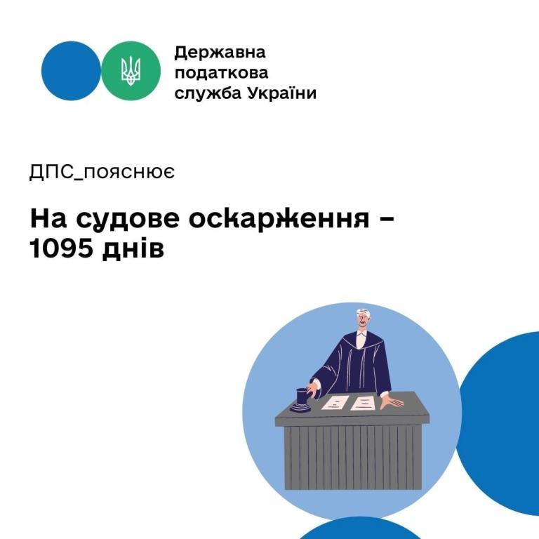 1095 днів на судове оскарження