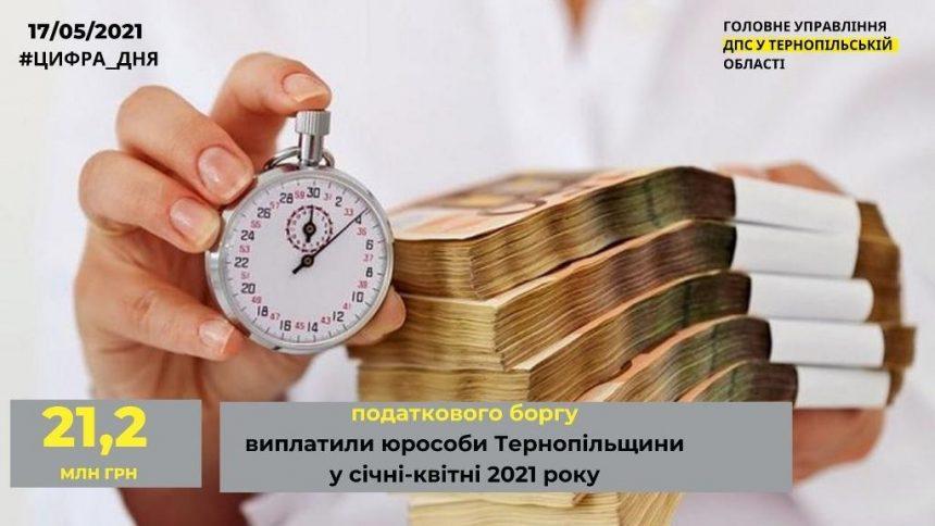 Боржники віддали бюджетам понад 21 мільйон гривень