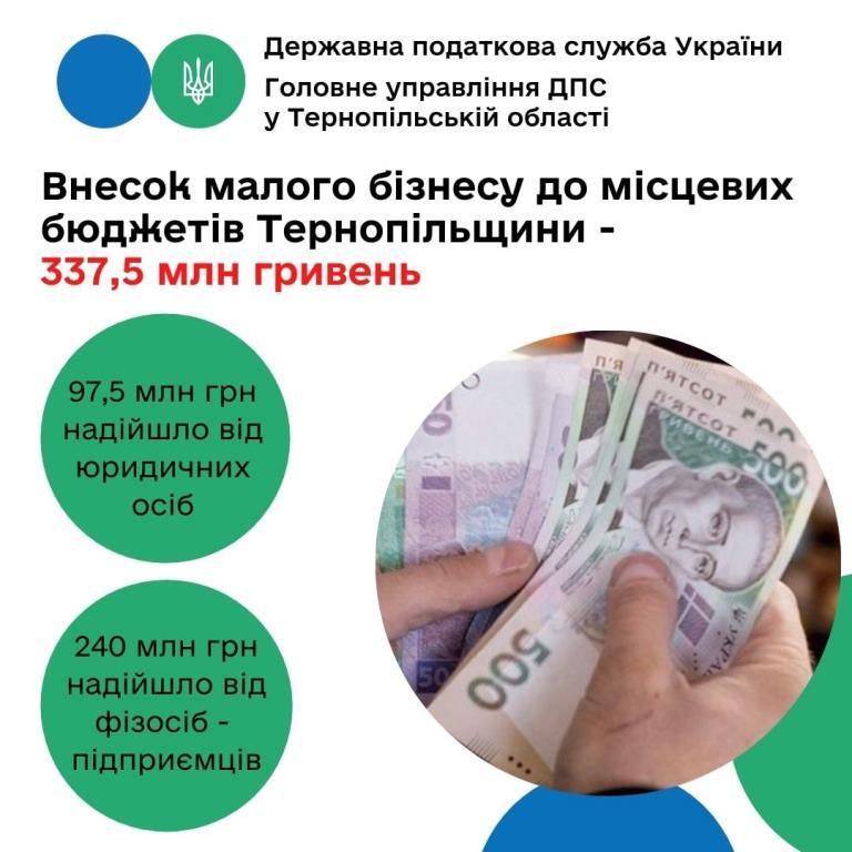 Внесок малого бізнесу до місцевих бюджетів Тернопільщини