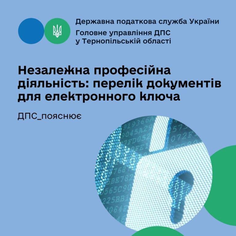 Незалежна професійна діяльність: перелік документів для електронного ключа