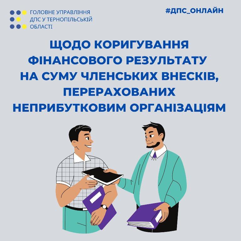 Коригування фінансового результату на суму членських внесків неприбуткових організацій