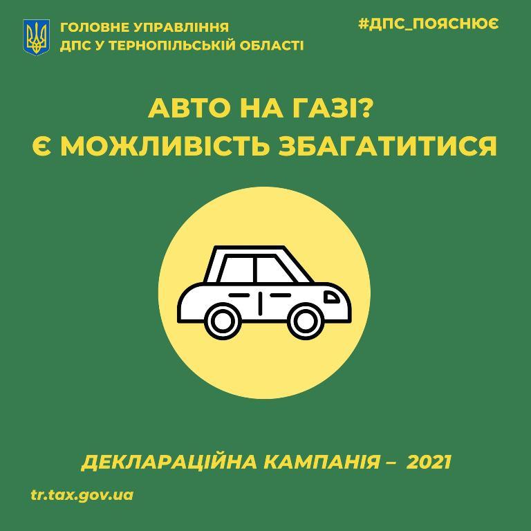 Податкова знижка за переобладнання автомобіля на газ