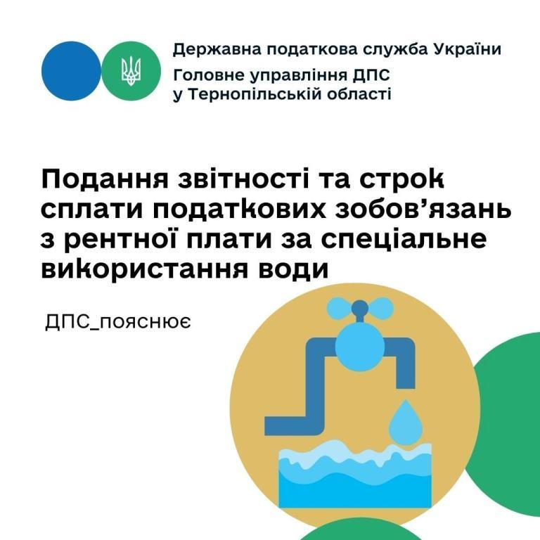 Строки сплати рентної плати за спеціальне використання води