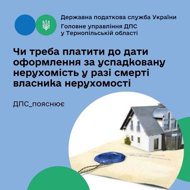 Чи треба платити до дати оформлення за успадковану нерухомість у разі смерті власника нерухомості