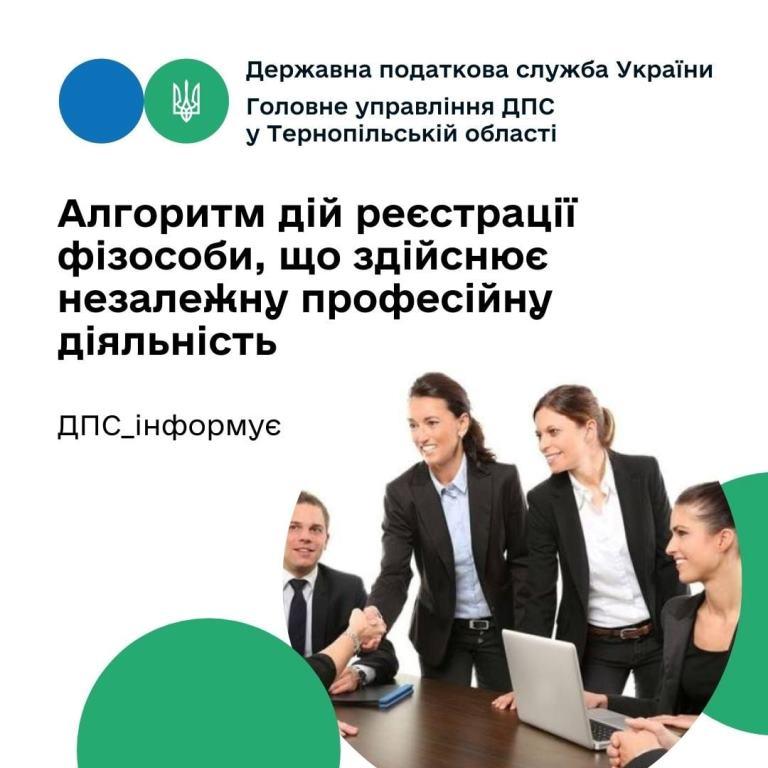 Реєстрація фізичної особи, яка здійснює незалежну професійну діяльність
