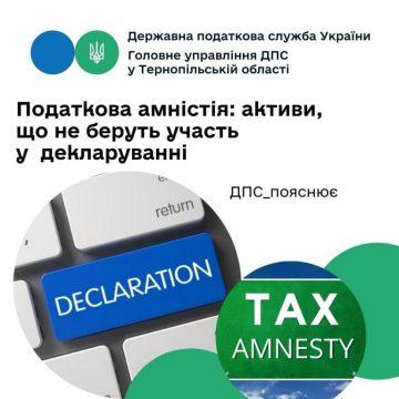 Податкова амністія: Які активи не беруть участі в декларуванні